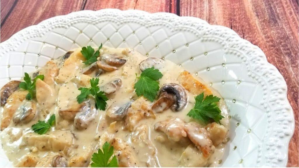 сливочно грибной соус из лесных грибов